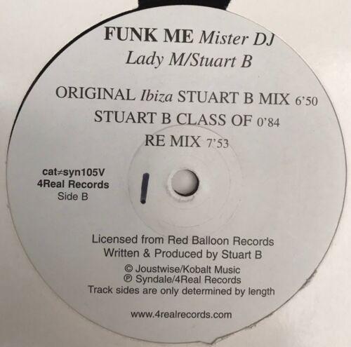 Image Lady M/Stuart B - Funk Me Mister DJ / Funky House Record 12