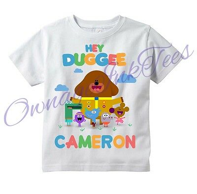 Hey Duggee Custom T-shirt PERSONALIZE, Great Gift!, Add name, Tee