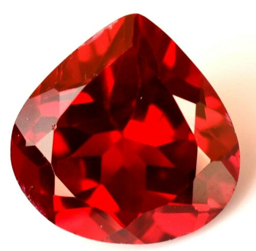 Natural Red PAINITE 10.00 Ct Certified 12 X12 mm Pear Cut Rare Found Gemstone !!