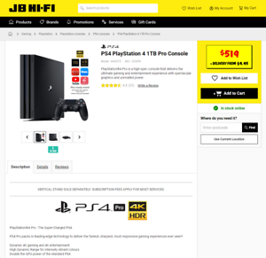 PS4 Pro 4K HDR UHD with Box Accessories and Controller $399 FinalOffer