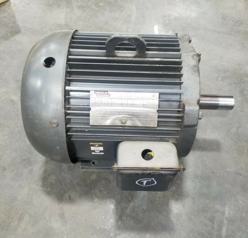 Lincoln Electric Motor AF2P7.5T61 7.5 Hp 3 Phase 230/460 3500 RPM 213T #3623SR