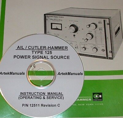 Ailtech 125 Power Signal Source Instruction Operating Service Manual