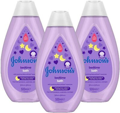 JOHNSON'S Bedtime Bath Multipack, Gentle and Mild for Delicate Skin, 3 x 500 ml