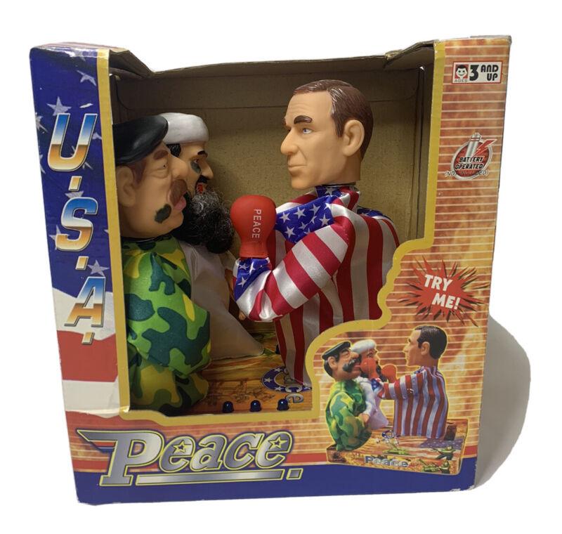 Novelty George W Bush & Saddam Hussein Boxing Puppets USA President Memorabilia
