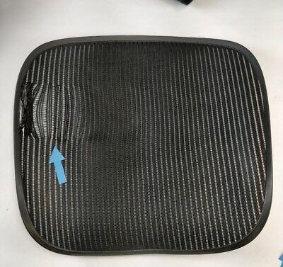 Herman Miller Aeron Chair Seat Mesh Black Pellicle With Blemish Size C Large 34