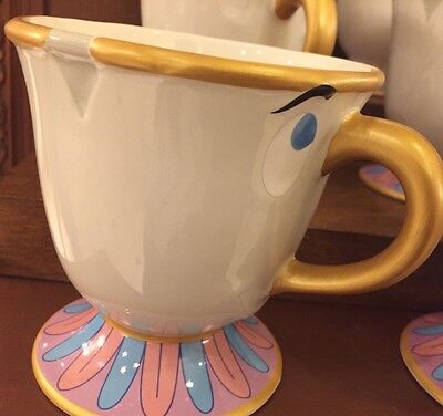 Beauty And The Beast Chip Tea Cup (NEW Disney Parks Beauty and the Beast CHIP Teacup Ceramic Coffee Tea Mug)