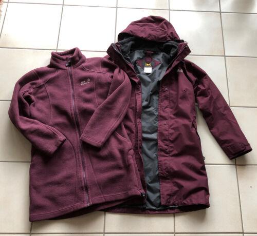 Jack Wolfskin Ottawa Coat Doppelmantel 3in1 burgundy Gr. M