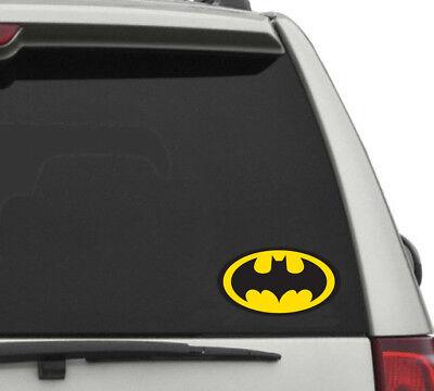 - Contour cut Vinyl BATMAN LOGO Decal Sticker Gift Laptop Comic Dark Knight Color