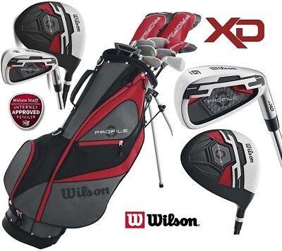 WILSON PROFILE XD MENS STEEL SHAFTED COMPLETE GOLF SET & STAND BAG NEW RIGHT H