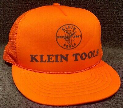 Vintage Snapback Klein Tools Hat Burnt Orange Advertising Logo Trucker Cap
