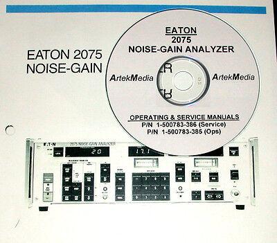 Eaton 2075 Noise-gain Analyzer Service Ops Manuals