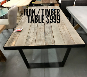 WAREHOUSE OUTLET - DINING TABLES and DINING CHAIR - Up to 80% Off Eumemmerring Casey Area Preview