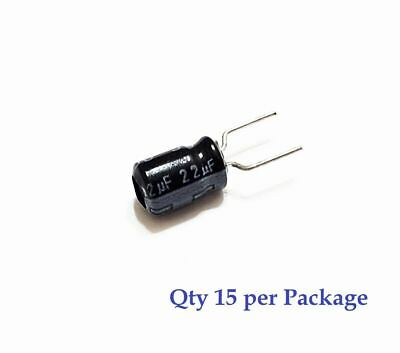 22uf 16v Board Mount Electrolytic Radial Lead Capacitor 15 Pieces