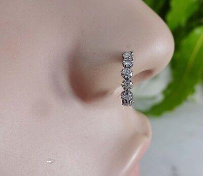 Nose Jewelry Indian Nose Ring Feather Crock Screw Nose Stud Gold Nose Piercing for sale  Shipping to United States