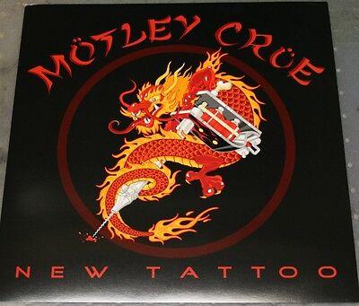 MOTLEY CRUE New Tattoo RARE PROMO POSTER 12x12 2000