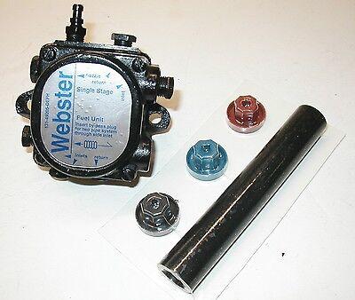 Webster M34dj M34d Oil Burner Pump Includes New Coupling Kit