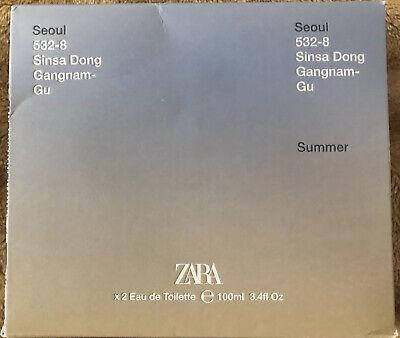 ZARA SEOUL + SUMMER SET for MEN * 2 x 3.4 oz (100ml) EDT Spray NEW
