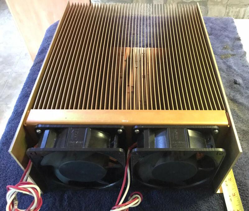 """Large Copper Finned Heat Sink W/ Cooling Fans 14-5/8""""x 13-1/4"""" X 5-1/4"""""""