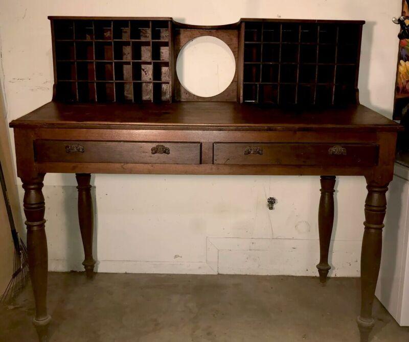 Antique Mail Sorter Post Office Desk