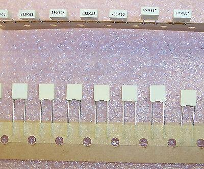 Qty100 .33uf 63v 10 Metallized Polyester Film R82dc3330dq60k Arcotronics Rohs