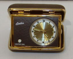 Vintage Winding Travel Alarm Clock by Linden AA Battery for Lighted Dial