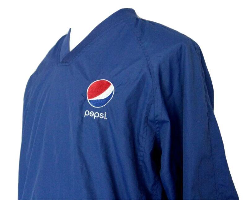 Vintage Pepsi Windbreaker Mens M Pullover Jacket