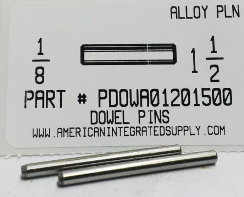 1/8X1-1/2 DOWEL PIN ALLOY STEEL PLAIN (10)