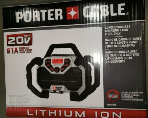 Porter-Cable Radio 20v PCCR701B AC/DC Corded/Cordless Chargi