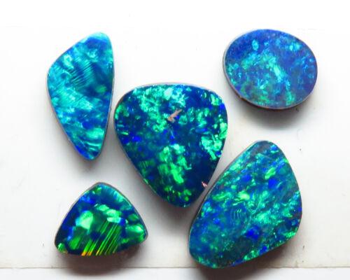 Doublet Opal 5 Stone 1.75ct Australian Free form Parcel