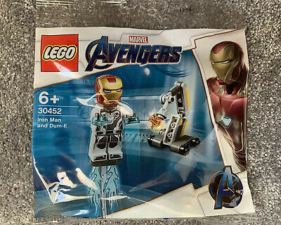 Lego Marvel Avengers Iron Man and Dum-E mini polybag 30452 NEW SEALED 2019