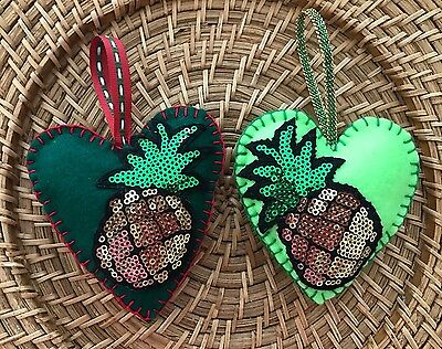 Felt Heart ornaments Easter Baby Shower Christmas decoration ornament pineapple
