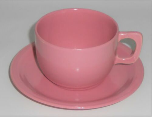 Coors Pottery Mello-Tone Pink Cup & Saucer Set