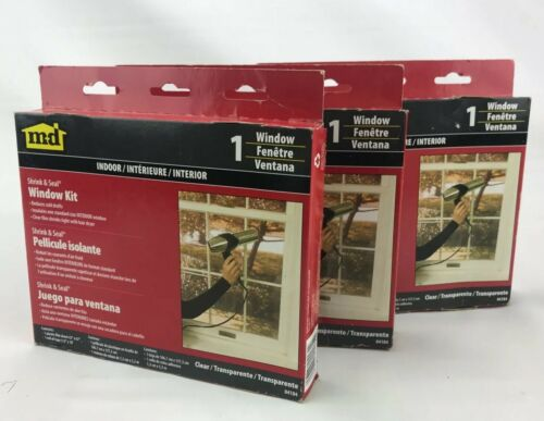 Window Seal and Shrink Insulation Kits Clear Film. Lot Of 3.