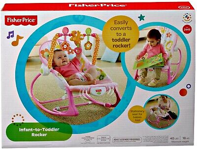 New Infant-To-Toddler Rocker, Pink Bunny with Removable