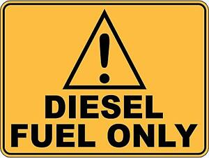 Caution Diesel Fuel Only 5 Sticker Sign Decal SET FOR ...