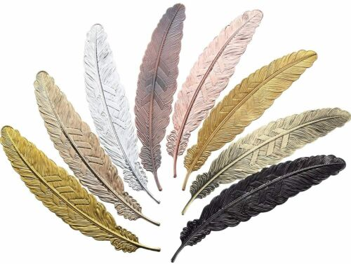 Bookmarks for Books 3D Feather Shape Reading Accessories Gift Beautiful Aluminum