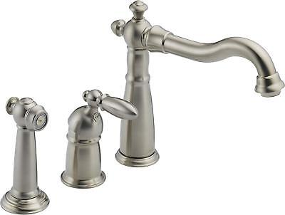 Delta 155-SS-DST Victorian Single-Handle Widespread Kitchen Faucet w/ side spray