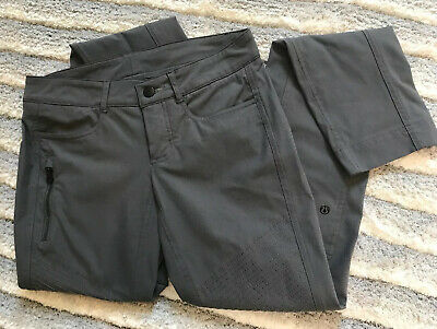 Lululemon Moto Bust A Move Pant Sz 2 ? Straight Leg Soot City Commuter Trouser