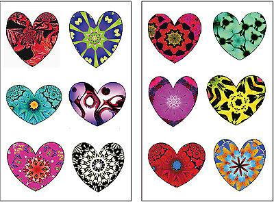 Rainbow Tattoos (Premium Rainbow Heart Tattoos, Valentine's Day Party Favors, Temporary)