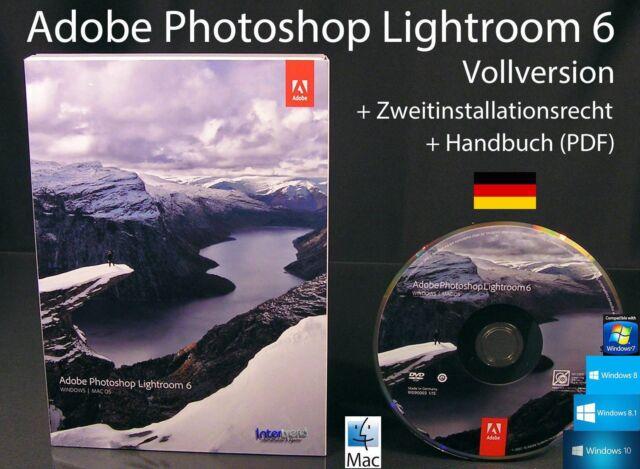 Adobe Photoshop Lightroom 6 Vollversion Box + DVD, Handbuch PDF Win/Mac OVP NEU