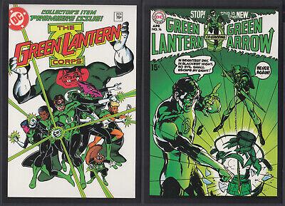 2 Postkarten, Vintage-Cover DC-SUPERHELDEN, Green Lantern + Green Arrow # 27