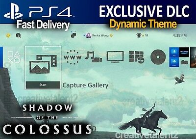 Shadow Of The Colossus Dlc   Ps4 Dynamic Theme   Wander Special Theme Psx  Bonus