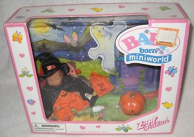 #2029 NRFB Zapf Creation Baby Born Mini World Halloween Witch Doll Playset, used for sale  Freeport