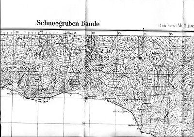 Meßtischblatt 1.25000, Schneegruben-Baude, Hirschberg, Liegnitz, Schlesien
