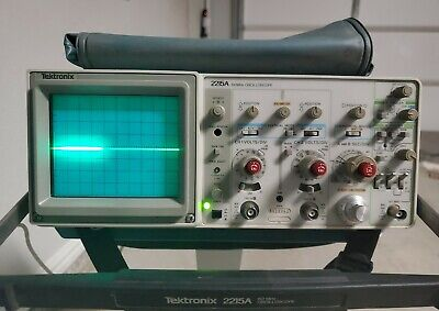 Tektronix 2215a 60mhz Analog Oscilloscope 2 Channel Measure Voltage Current