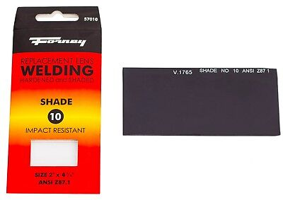 Forney 57010 Replacement Welding Safety Lens Eye Uv-ab Protector Shade 10
