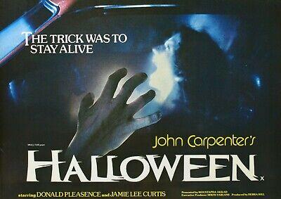 1978 Halloween Movie Poster (Movie Poster British 1978 John Carpenter's Halloween With Jamie Lee)