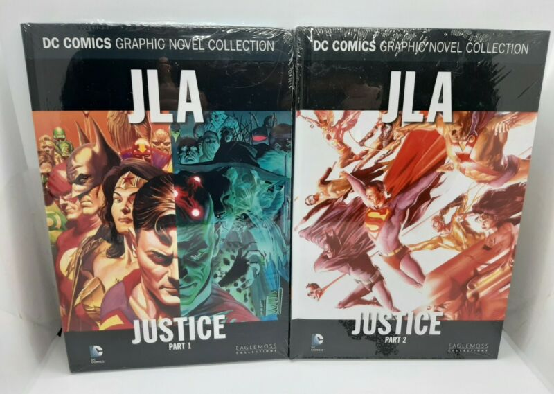 DC Comics JLA Justice Part 1 & Part 2 Graphic Novels VOL 29 & 30