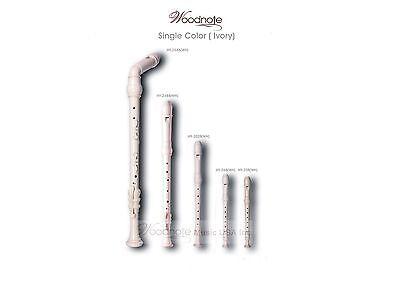 Single Ivory Color Recorder Set(bass-tenor-alto-soprano-sopranino)