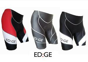 ED-GE-Mens-Padded-Cycling-Cycle-Lycra-Compression-Shorts-Red-Black-White